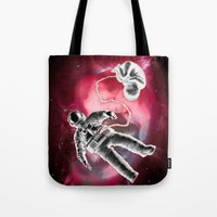 illusion Tote Bags featuring Illusion by Rilke Guillén