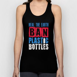 Ban Plastic Pollution Planet Earth Oceans Marine Life design Unisex Tank Top