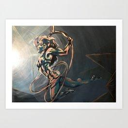 Hoop Trio Art Print