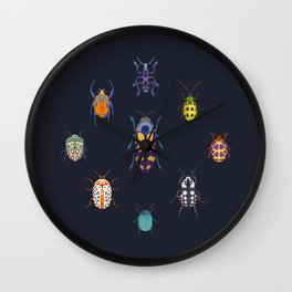 Beautiful bugs Wall Clock