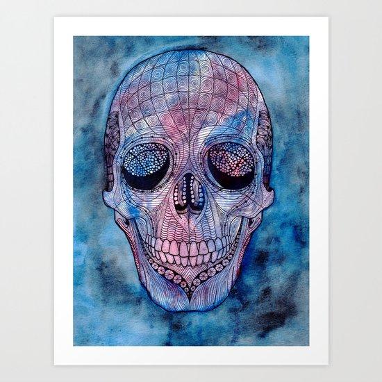 Patterned Skull Art Print