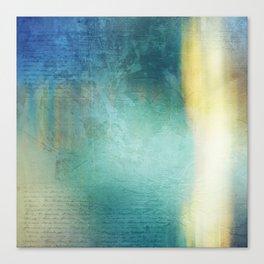 Decorative Blue Writing Texture Vintage Canvas Print