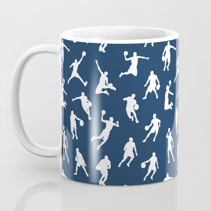 Basketball Players // Navy Coffee Mug
