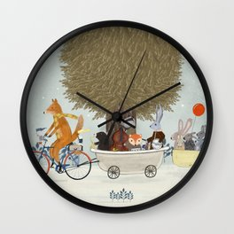 the bunny lullaby Wall Clock