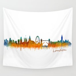 London City Skyline HQ v3 Wall Tapestry