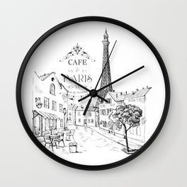 Cafe Paris Wall Clock
