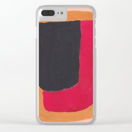 25    190330 Abstract Shapes Painting Clear iPhone Case