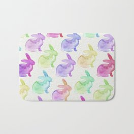 Watercolor Bunnies 1A by Kathy Morton Stanion Bath Mat