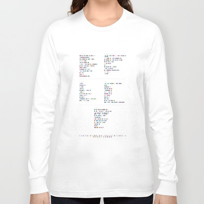 019e1523f2aa Bloc Party Discography - Music in Colour Code Long Sleeve T-shirt by ...