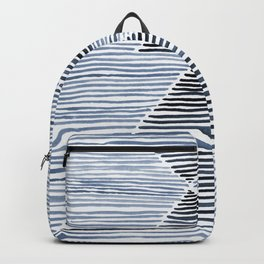 Rosario Watercolor Print in Blue Backpack