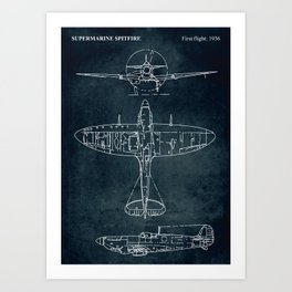 SUPERMARINE SPITFIRE - First flight 1936 Art Print