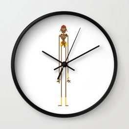 Pixel Dhalsim - White Edition - Street Fighter Wall Clock