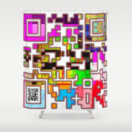 Electric Messaging Shower Curtain