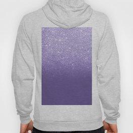 Modern ultra violet faux glitter ombre purple color block Hoody