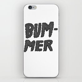 bummer black and white spiral iPhone Skin