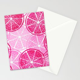 Linocut Citrus Pattern Stationery Cards