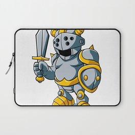 Cartoon knight With Swords Shield Helmet Army Uniform Laptop Sleeve
