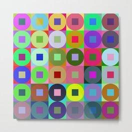 6x6 002 - abstract geometric minimalism Metal Print