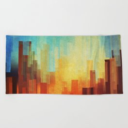 Urban sunset Beach Towel