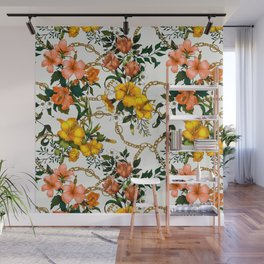 Chains with flowering bouquets II Wall Mural