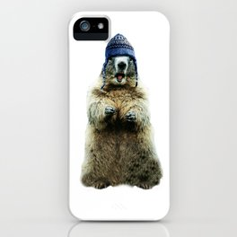 Wooly Marmot by Crow Creek Cool iPhone Case