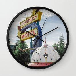 Stardust Motel Wall Clock