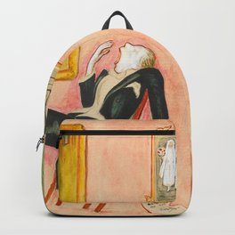 Family Idyll; Love and Marriage and Other Common Disasters portrait painting by Nils Dardel Backpack