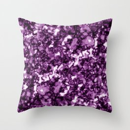 A pastel cluster of pink bodies on a light background. Throw Pillow