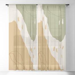 Mountain Valleys Sheer Curtain