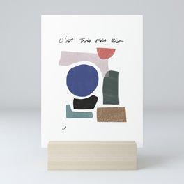 TROIS FOIS RIEN Mini Art Print