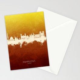 Pamplona Spain Skyline Stationery Cards