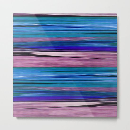 Abstract pattern . lilac blue . Metal Print