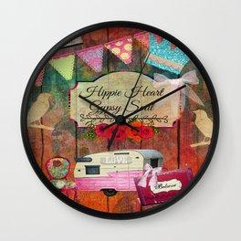 Hippie Heart Gypsy Soul, Retro Camper Wall Clock