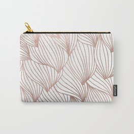 Rose gold petals Carry-All Pouch
