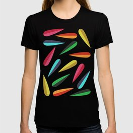 Feathers II Cascading Colors T-shirt