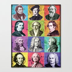 Composers Compilation Canvas Print