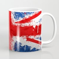 british Mugs featuring BRITISH FLAG by Sophie