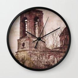 Church in ruins Wall Clock