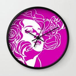 """Koloman (Kolo) Moser """"Girl's head"""" (2) Wall Clock"""