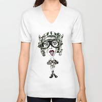 tank girl V-neck T-shirts featuring Tank Girl Missiles by TheArtofJC