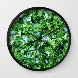 Green Crystals Wall Clock
