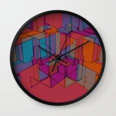 Cube Geometric I Wall Clock