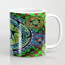 Variated Spheres #1 Psychedelic Celtic Design Coffee Mug