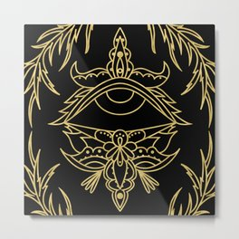 Boho Eye Design Metal Print