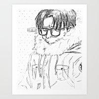 shingeki no kyojin Art Prints featuring Levi // Shingeki No Kyojin by BucketsofBroke