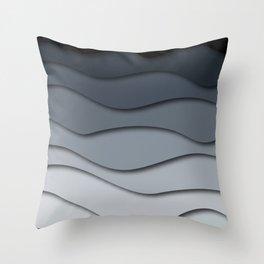 Abstract wavy design Throw Pillow