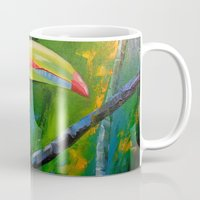 toucan Mugs featuring Toucan by OLHADARCHUK