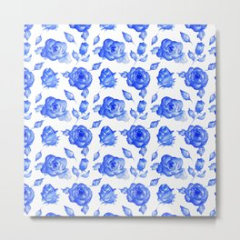 Painting the Roses Blue Metal Print