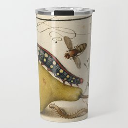 Pear Butterfly Caterpillar Travel Mug