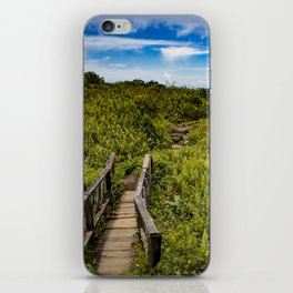 Beautiful Wooden Bridge Leading up to a Lake View on top of Mombacho Volcano, Nicaragua iPhone Skin